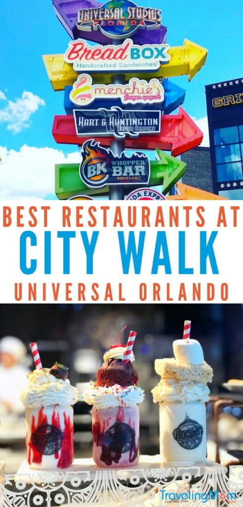 What should you eat at Universal Orlando? Check out City Walk for some of the best eats you can find without needing a theme park ticket! From sushi to burgers to nachos and more, City Walk is a true shopping and dining destination. Read our Traveling Mom's 7 best places to eat at Universal City Walk and plan your trip today!