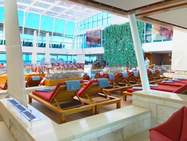 For girlfriend getaway cruises, find the adults only areas on the ship for more relaxation.