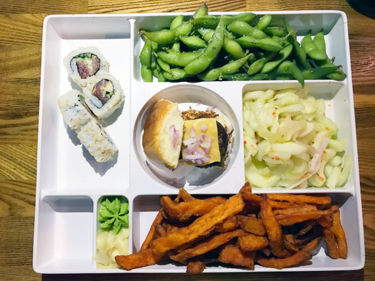 The Cowfish restaurant is known for the unique Bento Box meal.