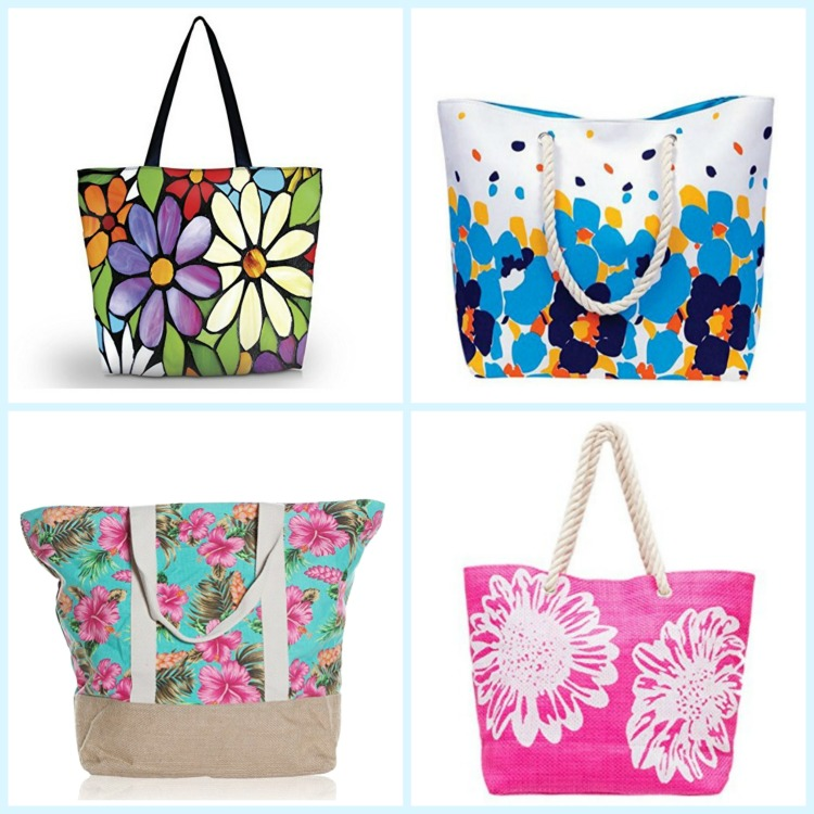 Floral beach bags never go out of style. Photo Credit: Amazon