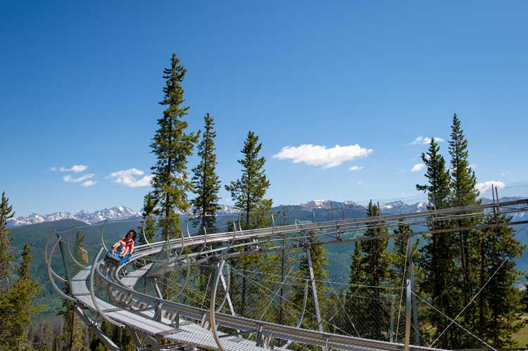 Vail's Forest Flyer may be the highest alpine coaster in the world.