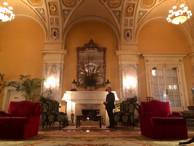 Drinks by the fire at the Hermitage Hotel is among things to do in Nashville for couples