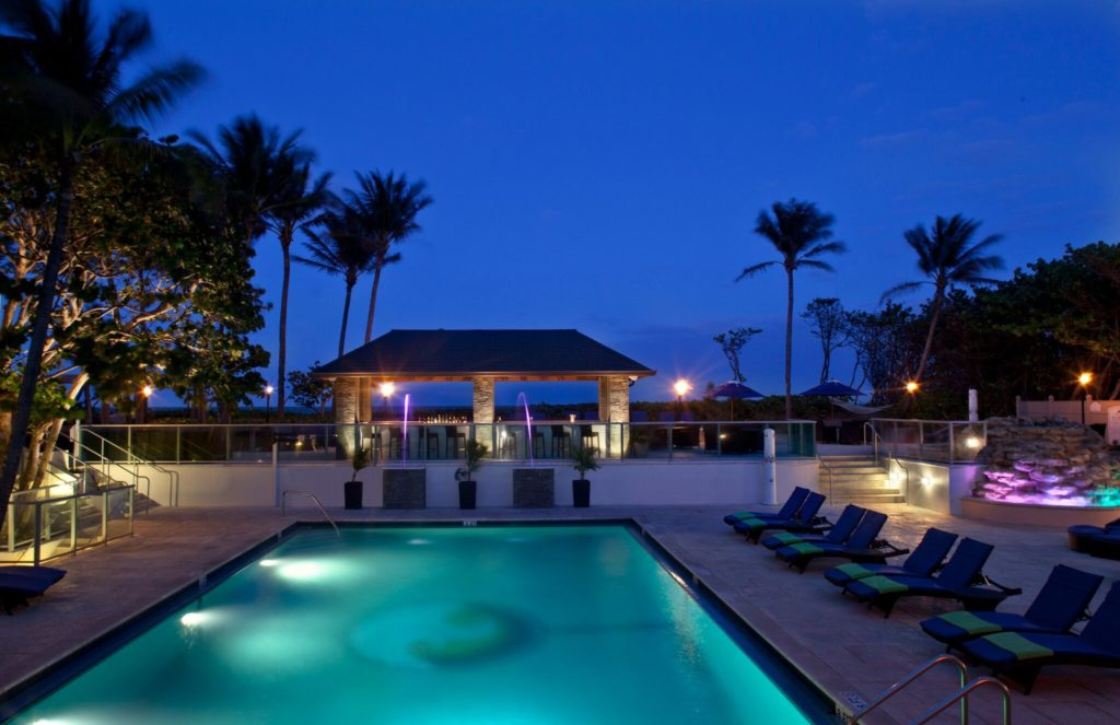 Jupiter Beach Resort and Spa has an oceanfront pool and hot tub. Staying here is one of the fun things to do in Jupiter FL