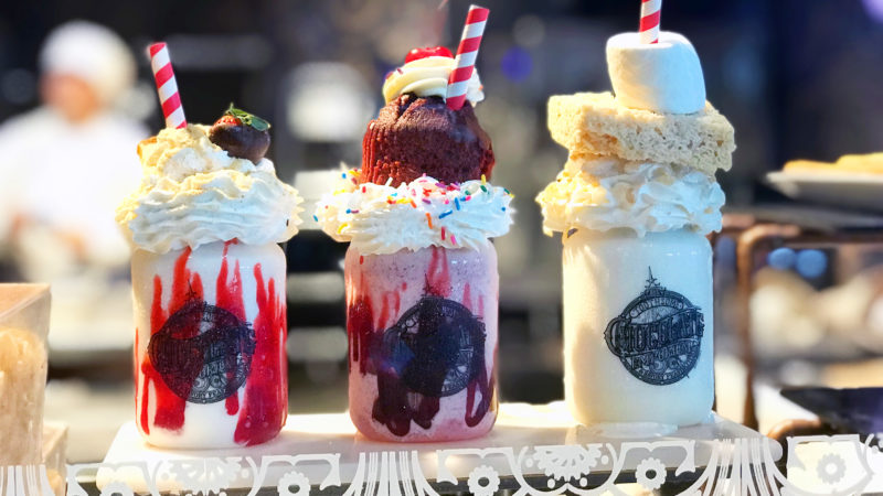 Milkshakes at Toothsome Chocolate Emporium and Savory Feast Kitchen are a MUST try!