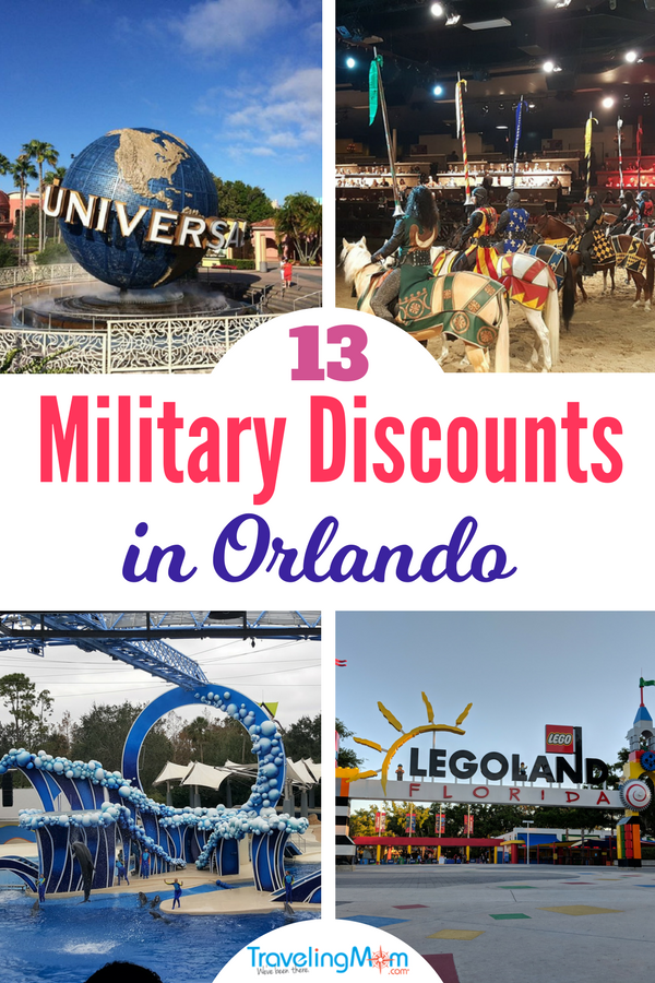 Discover 13 of the top Orlando military discounts including Universal Studios, SeaWorld and more! #familytravel #militarydiscounts #militarysavings #militarymoms #militarylife