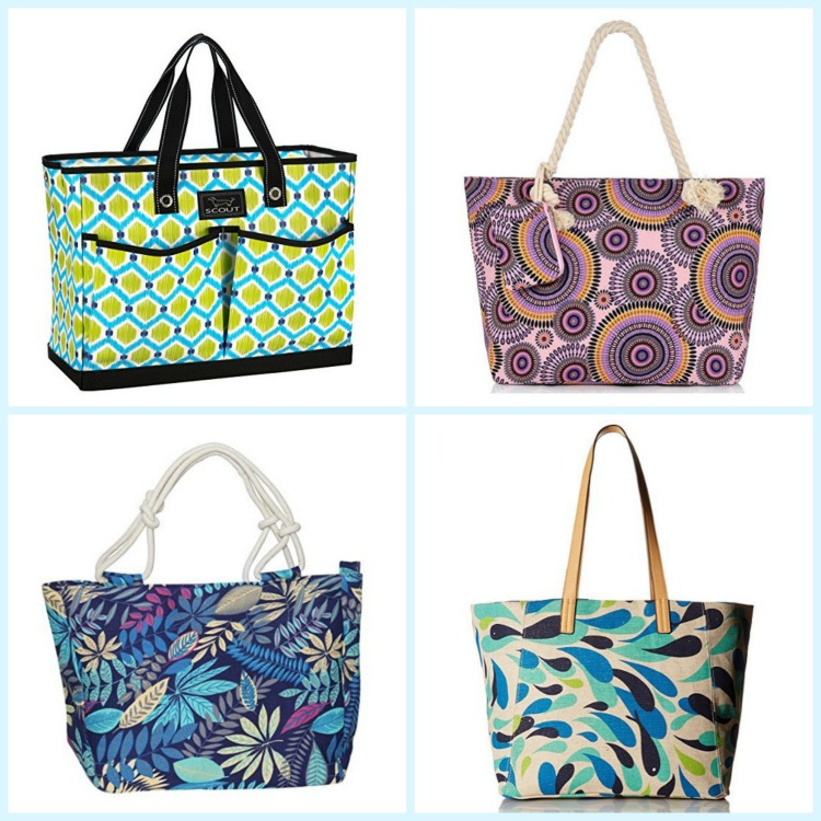 These patterned beach bags are both pretty and functional. Photo Credit: Amazon