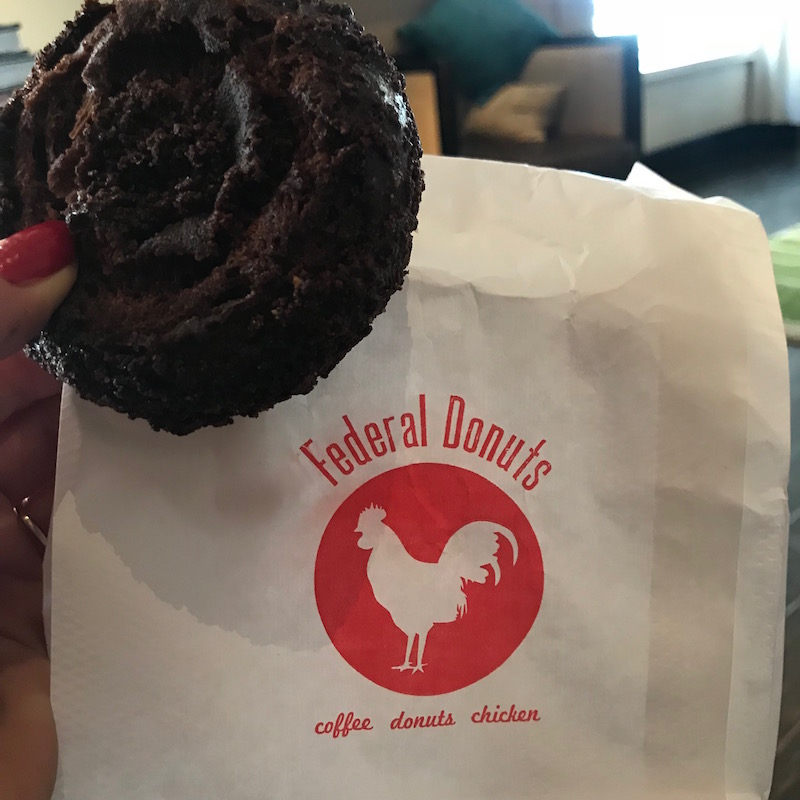 Counting carbs? If you run, no need. Philly love run and Federal Donuts for the win!