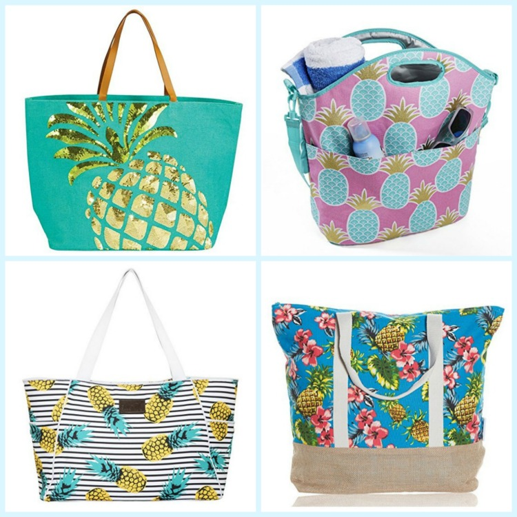 Pineapple beach bags are always fun. Photo Credit: Amazon
