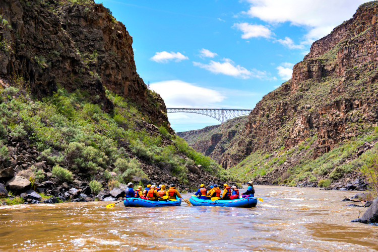 From family floats to thrilling white-water rafting, you'll find your next family-friendly adventure in Taos, NM. Photo credit: Visit Taos