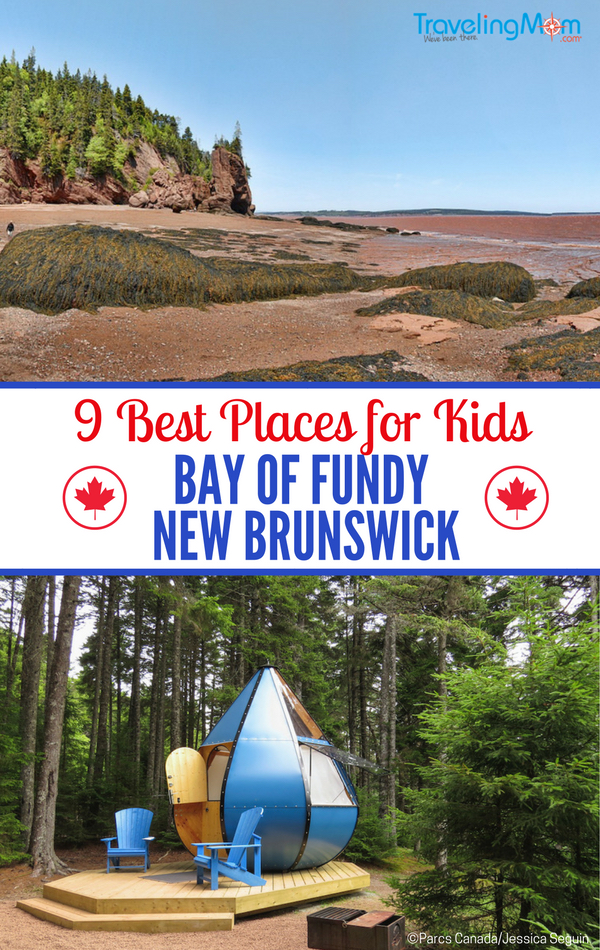 See the highest tides in the world at the Bay of Fundy National Park along with the 9 best things for kids at the Bay of Fundy, New Brunswick, Canada.