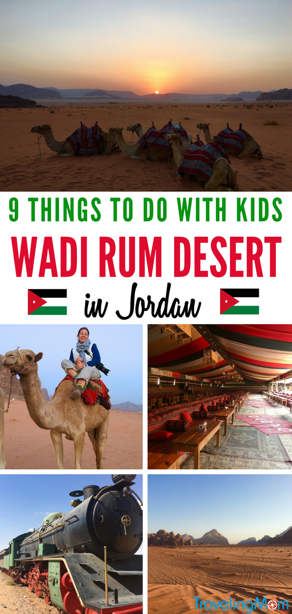Visit the Peaceful Kingdom of Jordan in the Middle East for family-sized adventure. And a visit to the Wadi Rum desert is a must. Find 9 things to do with kids in Wadi Rum.