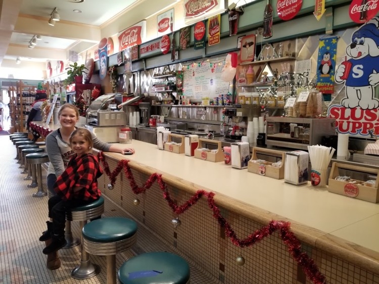 Just start walking and explore the historic Taos Plaza in New Mexico -- and you might just discover an old-fashioned soda shoppe. at Taos Trading Co.