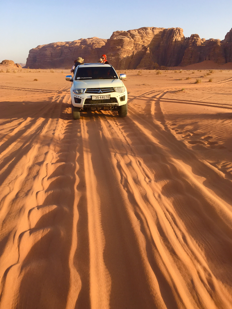 take a 4x4 tour. things to do with kids in Wadi Rum.