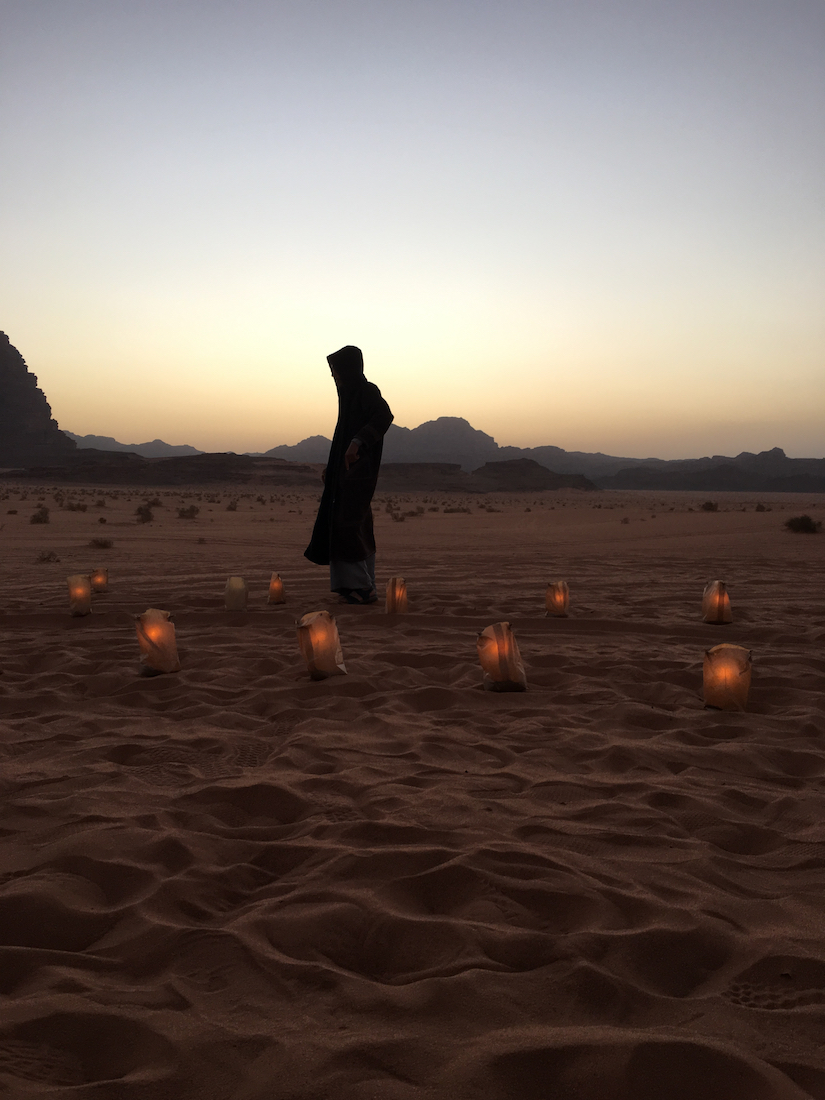 See the sun set. Thanks to do with kids in Wadi Rum.