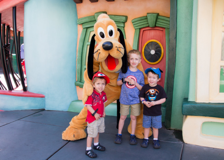 Meeting Pluto in Disneyland During a west coast road trip