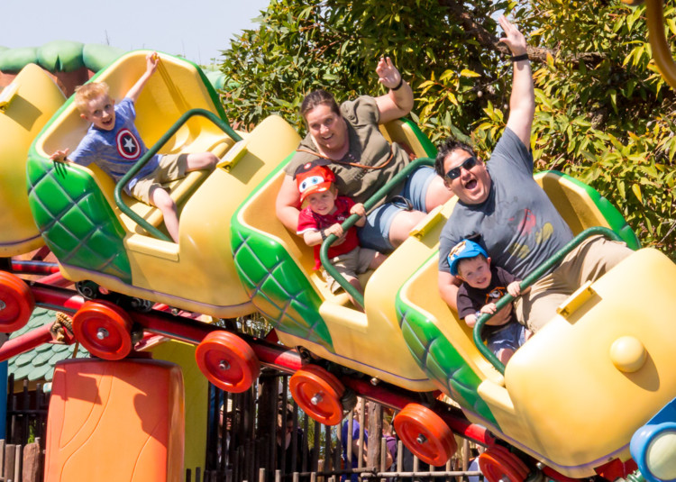 Gadget's Go Coaster in Disneyland during a West Coast Road Trip