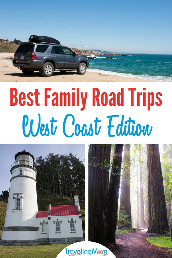 These West Coast road trip destinations are perfect for your family vacation. Oregon Coast, Redwoods, Theme Parks and more! #Disneyland #Redwoods #Travel