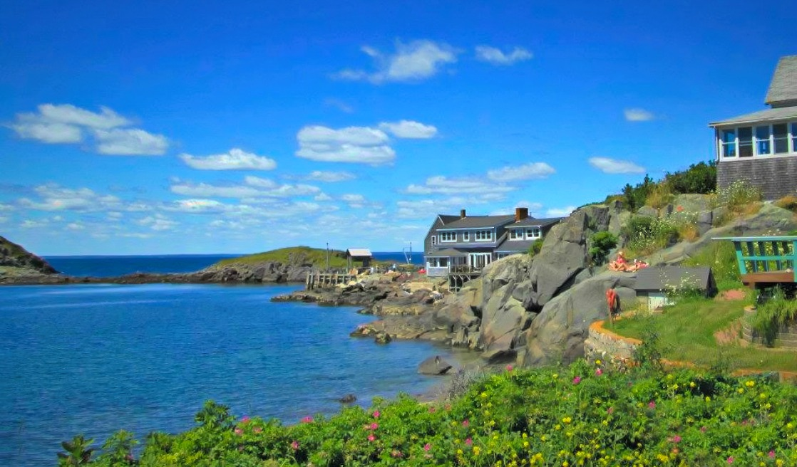 Monhegan Island in Maine, welcomes you with a fjord-like scenery.