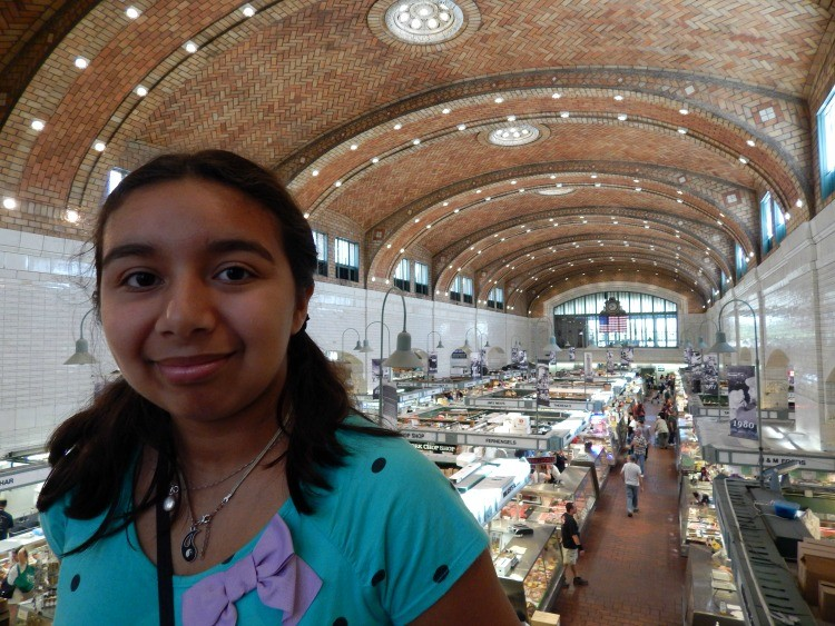 A bird's eye view of North Market in Cleveland, Ohio. It's one of the fun things to do in Cleveland with kids.
