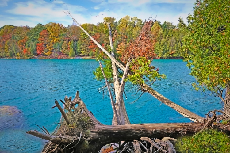Enjoy untouched beauty of Green Lakes State Park in New York State.