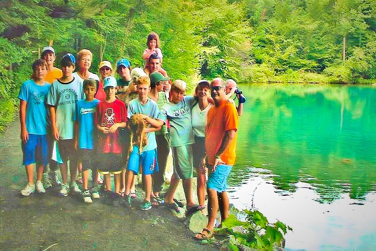 Great memories from a camping trip to Green Lakes State Park, NY where everyone has fun!