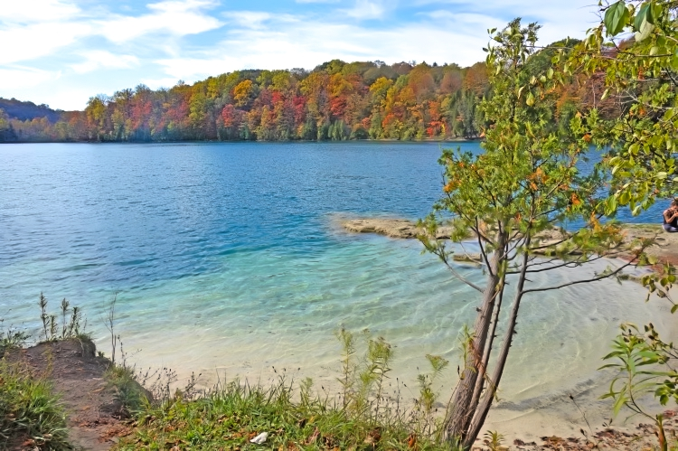Find your own little paradise in Green Lakes State Park, NY.