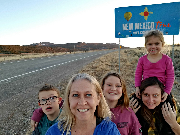 Hello New Mexico! Ok, raise your hand if your road trips always include stops on the side near state line road signs?