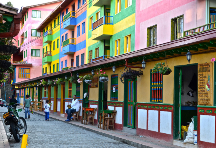 Colorful buildings of Guatape Village