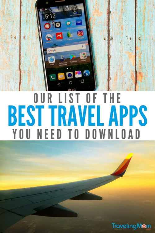 "In 2018, applications or ""apps"" are part of our daily lives. Which ones are the best? Which ones will save you time and money? With so many choices out there, it's hard to decide which apps deserve data space on your device. Thanks to our Traveling Mom experts, you don't have to decide alone! We've tried out many of the travel apps out there, and we are ready to share which ones are the best. #travelapps #travelingmom #traveltips #freeapps #besttravelapps #travelhacks"