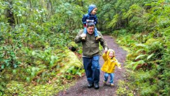 Just after this hike, the rain came pouring down. Thankfully we had extra clothes for the kiddos. Photo credit: Becca Robins, Memory Making TravelingMom