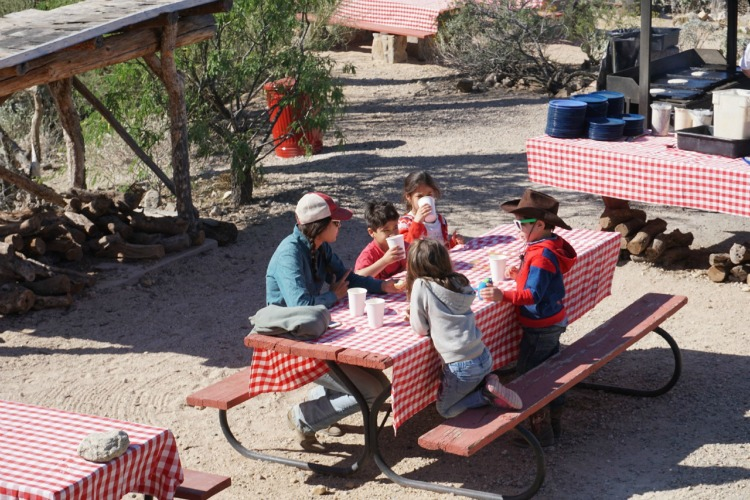 Young kids can still meet their parents for breakfast even if they are too young to participate in the breakfast ride! Photo by Multidimensional TravelingMom, Kristi Mehes.