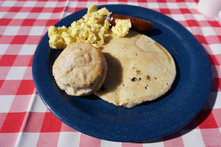 The food served during the breakfast ride is delicious! Photo by Multidimensional TravelingMom, Kristi Mehes.