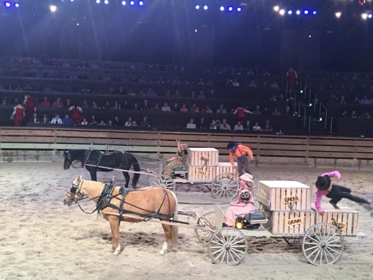 The Dolly Parton Stampede is just one of the fun things to do in Branson with kids.