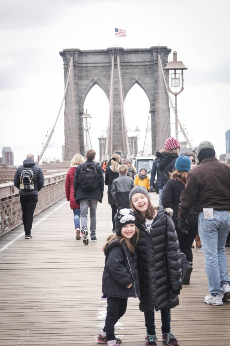 Have you walked across the Brooklyn Bridge with your family? It's a fun way to see the city when visiting New York City with kids!