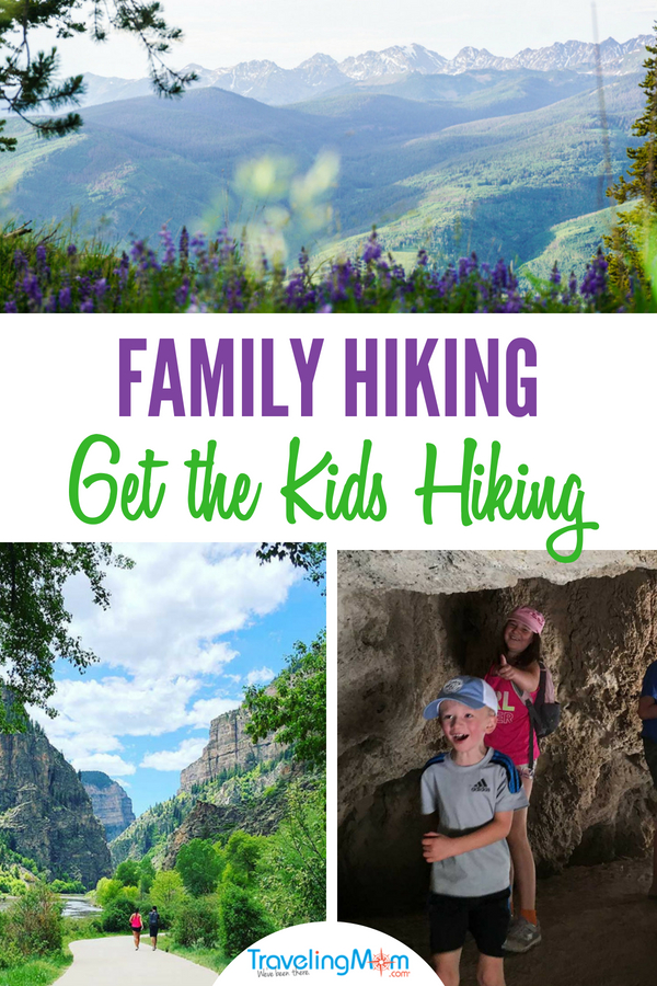 Why & how to get the kids hiking: Hiking is good for the body, soul and brain. It makes us healthy, happier and stronger. There's no time better than the present to get out for a family hike. Get tips on successful family hiking from Mountain TravelingMom. #familyhikes #colorado #glenwoodsprings #hiking #mountains