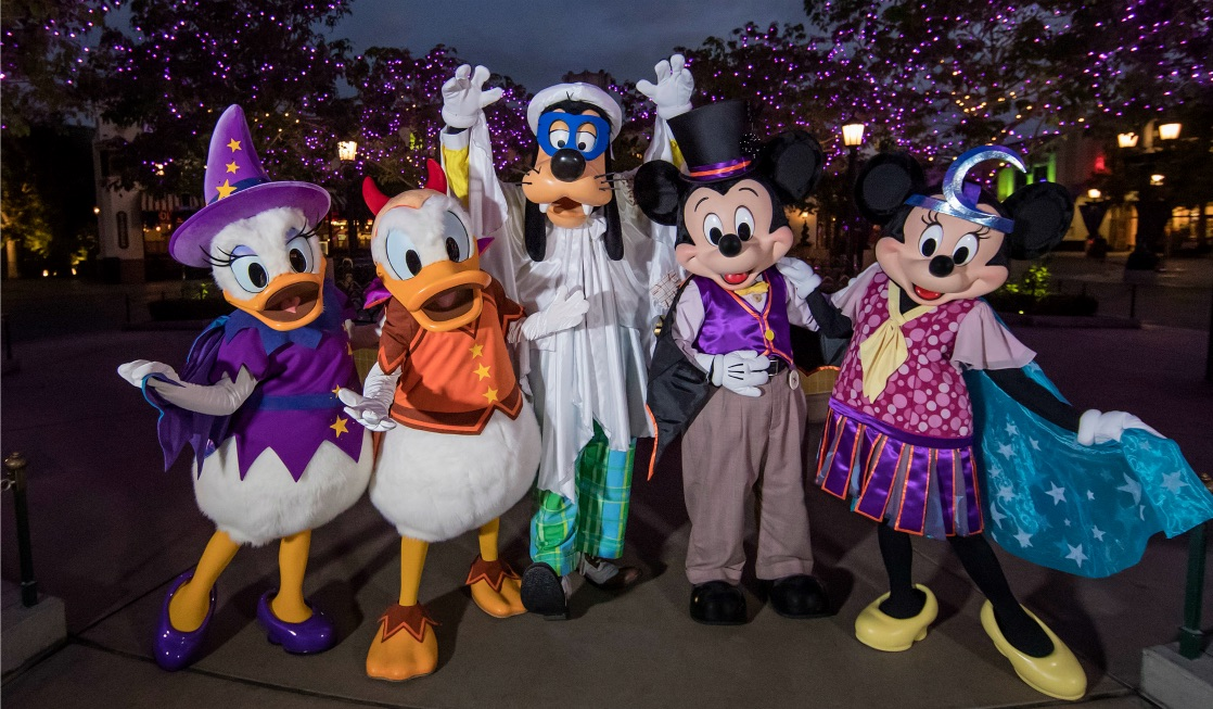 Check out all the fun characters you will meet at Mickey's Halloween Party 2018 Disneyland