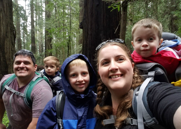 Hiking with kids in the Redwoods, Founder's Tree