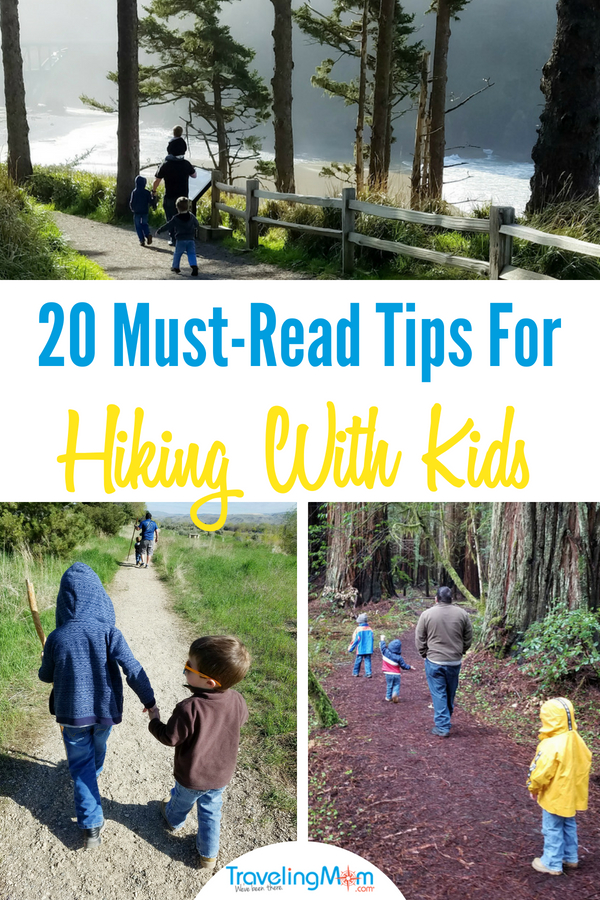 Hiking with kids can be overwhelming but these tips will have you hitting the trails in no time. Plus our best kids hiking gear. #hiking #camping #outdoors #travelwithkids #familyhikes #TMOM