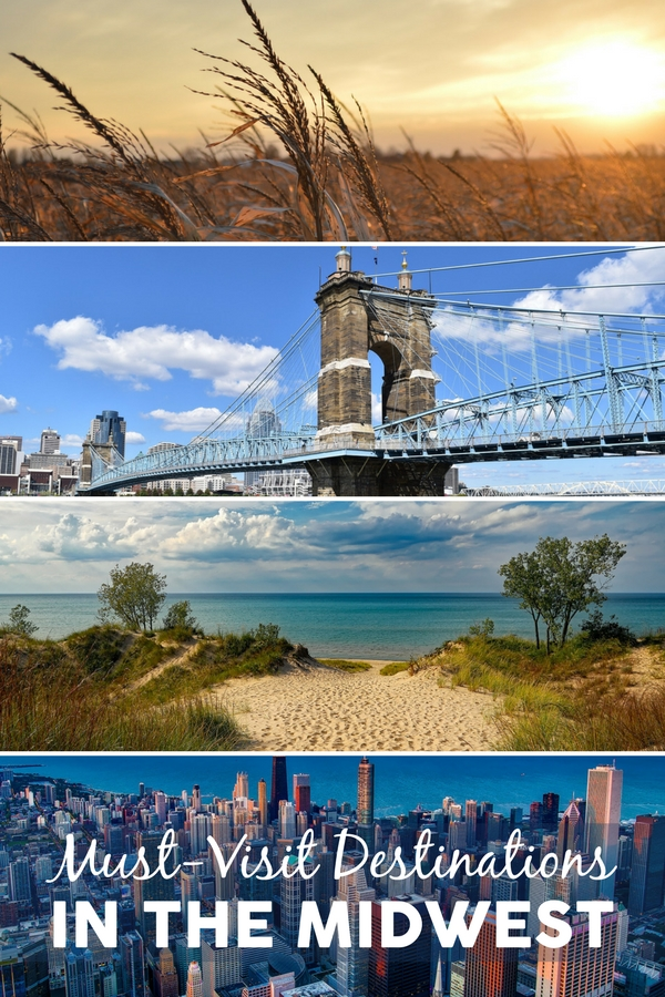 The Midwest is often overlooked as a vacation destination, but it's truly one of the best places in the US for a family road trip. Sand Dunes and beaches, large, booming cities, small lake towns, world-class restaurants, famous landmarks, and so much more can be seen on your Midwest road trip. Check out the must-see places for families in Ohio, Indiana, Illinois, Iowa, Kansas, Missouri, Wisconsin, North Dakota, South Dakota, Nebraska, Minnesota, and Michigan. #Midwest #RoadTrip #familytravel #TMOM