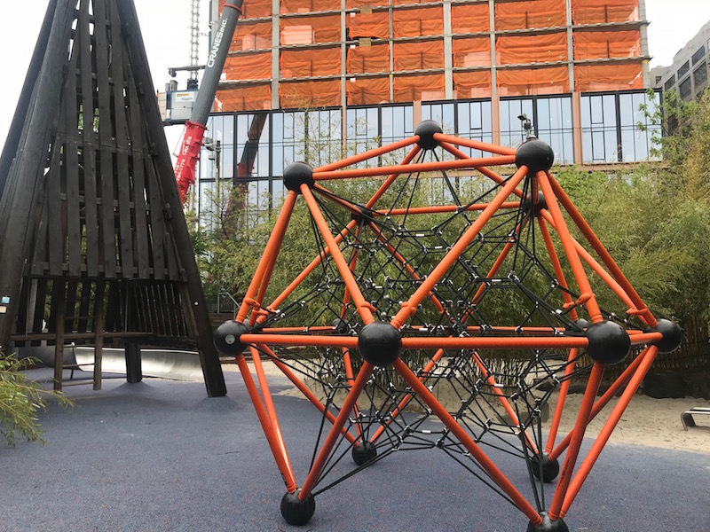 Brooklyn Bridge Park has many playgrounds. Visit one as part of a weekend in Brooklyn