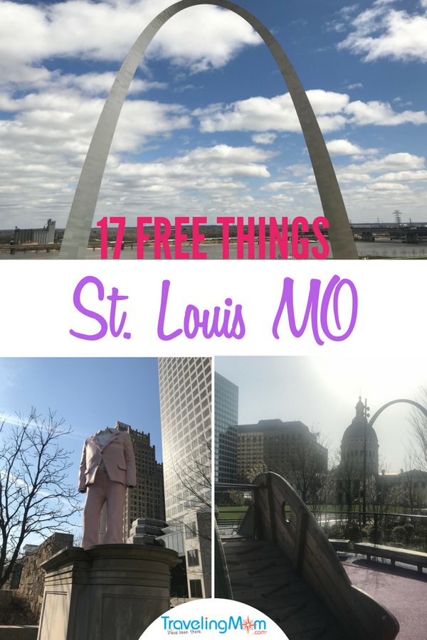 17 free things to do in St. Louis Missouri pin