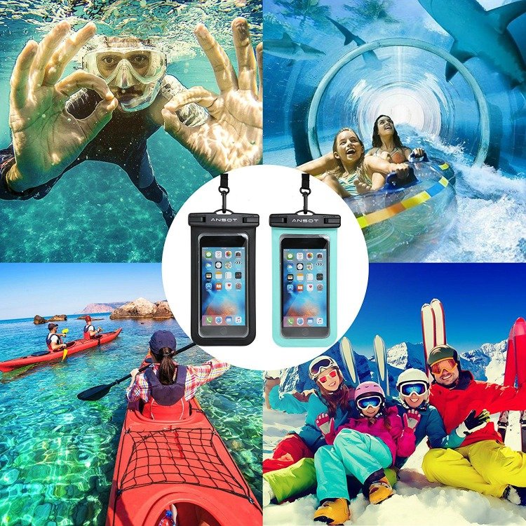 When packing for the beach be sure to include a waterproof case for your phone