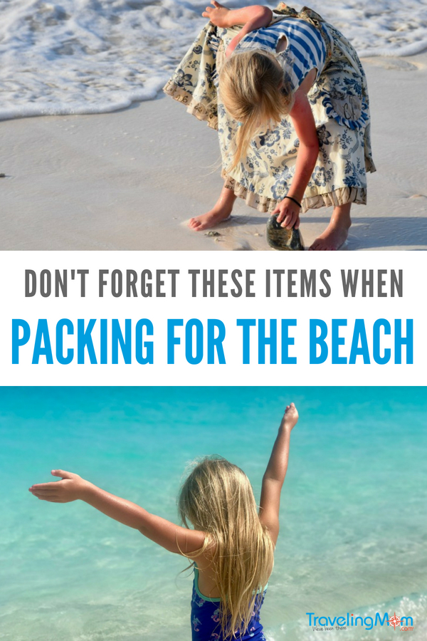 When packing for the beach you won't want to forget these items for the family. #beach #packinglist #packing