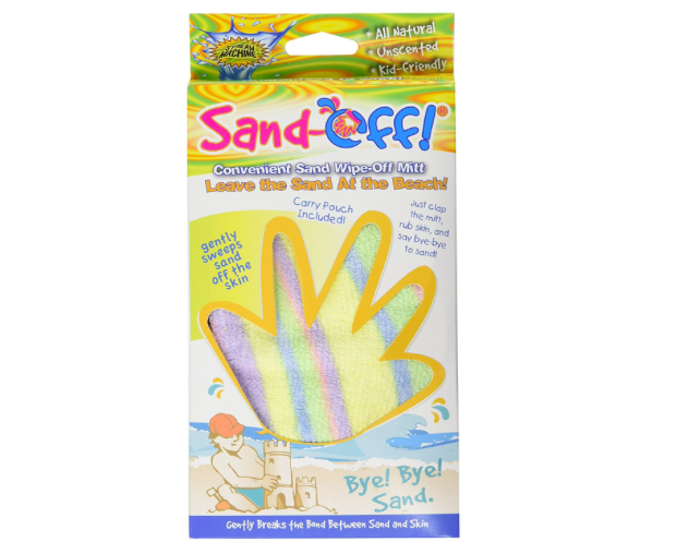 Don't forget this sand-off mitt when packing for the beach.
