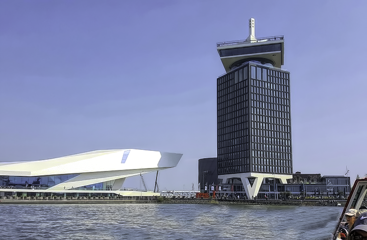 How to visit Amsterdam in two days. From the boat, you will get to view modern Amsterdam too.