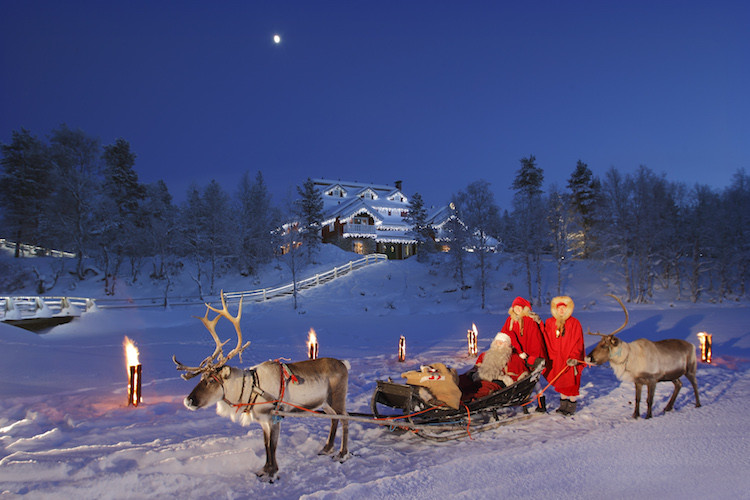 Luxury travel to Finland fulfills happy fantasies. Santa