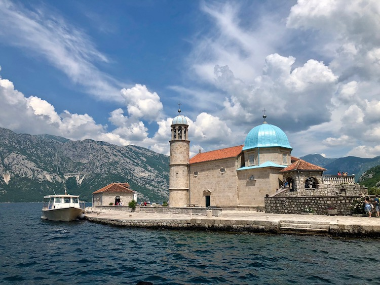 Montenegro travel includes this gorgeous church on an island