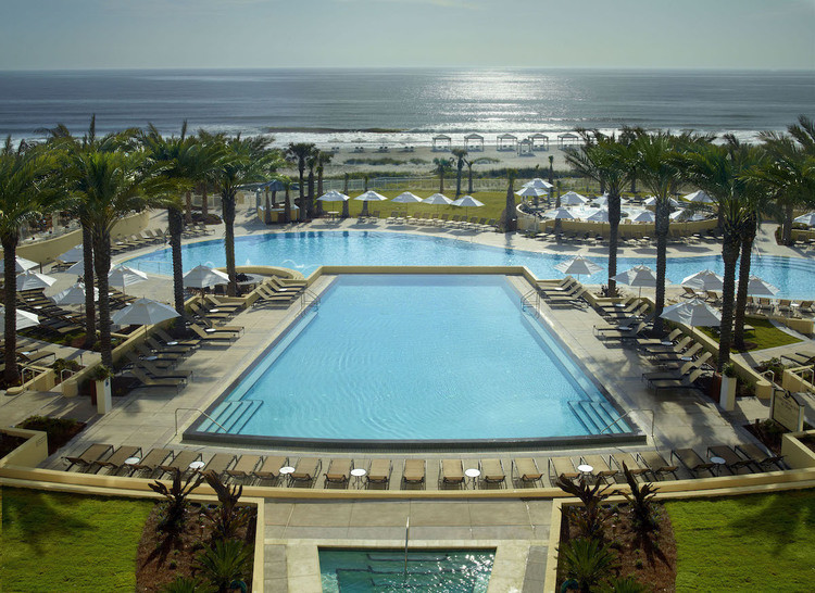 A pool for days on a mother daughter getaway to Ameila Island at Omni Amelia Island.