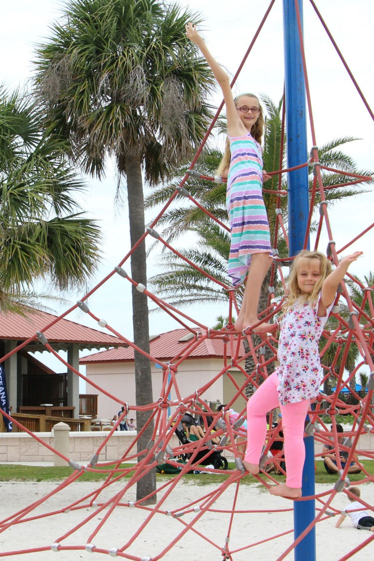 Playing on the playground is always on the list of fun things to do with kids