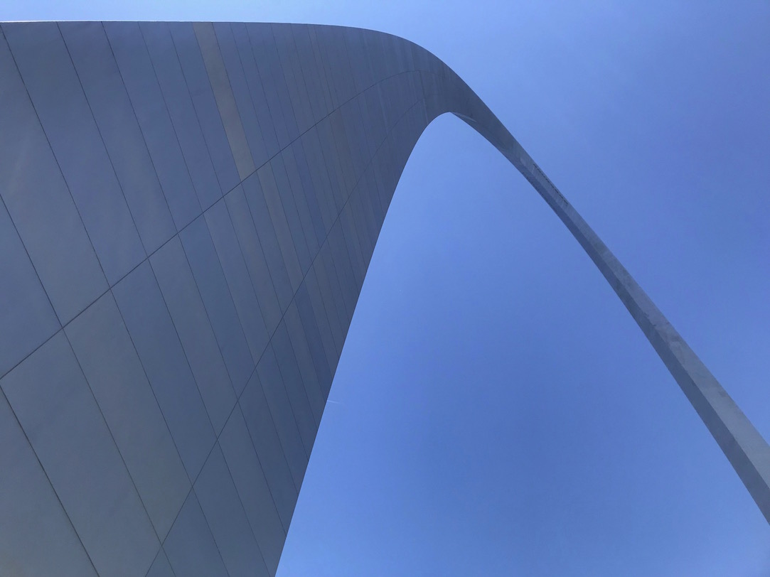 Make sure you look at the St. Louis Gateway Arch from every angle